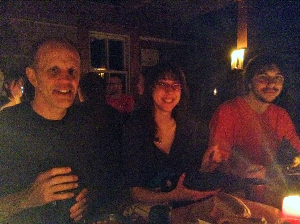 Proof that we were (almost) all there. Candlelit dinner at Herridge lodge in the Gatineau park. (Dr B, Jaimee & Dan)