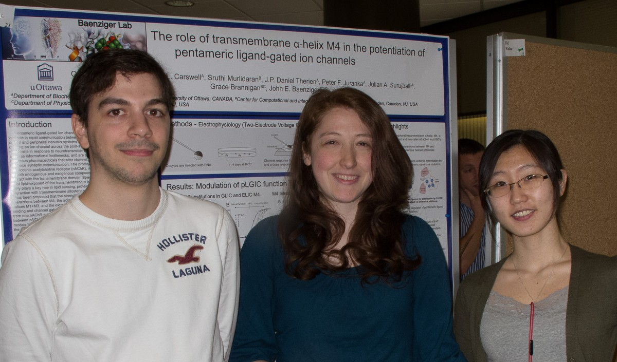 Baenziger lab graduate students on BMI poster day.