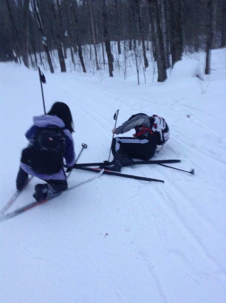It was Dan's first time skiing too. Learning to ski is easy!