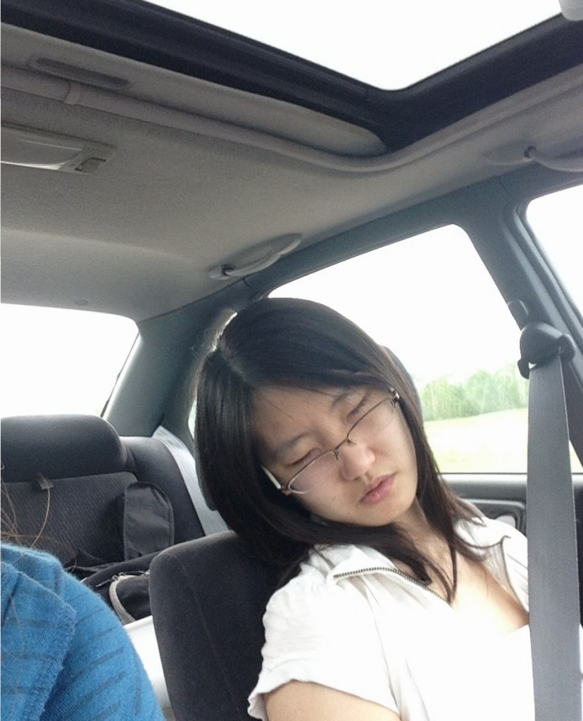 Jiayin: professional sleeper, honing her craft.