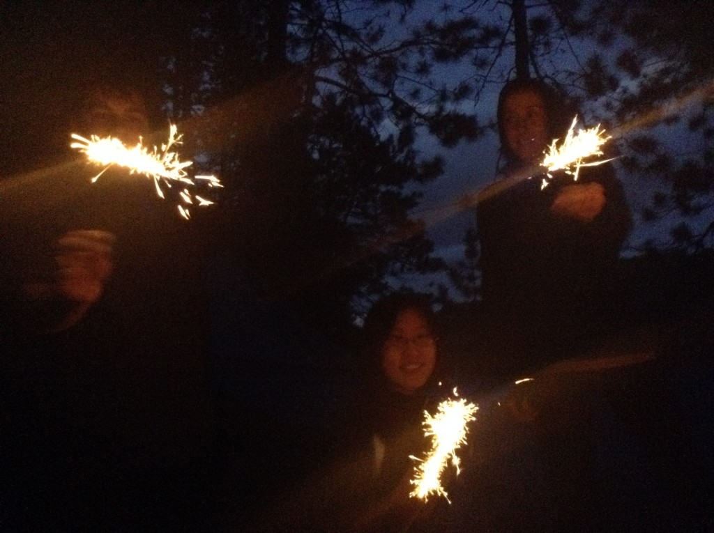 Yes, we had sparklers.