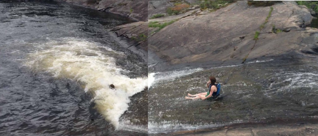 Somehow, after all the big talk...only Camille had the guts to go down the falls. 3 times. We're pretty sure Dan didn't swim at all.