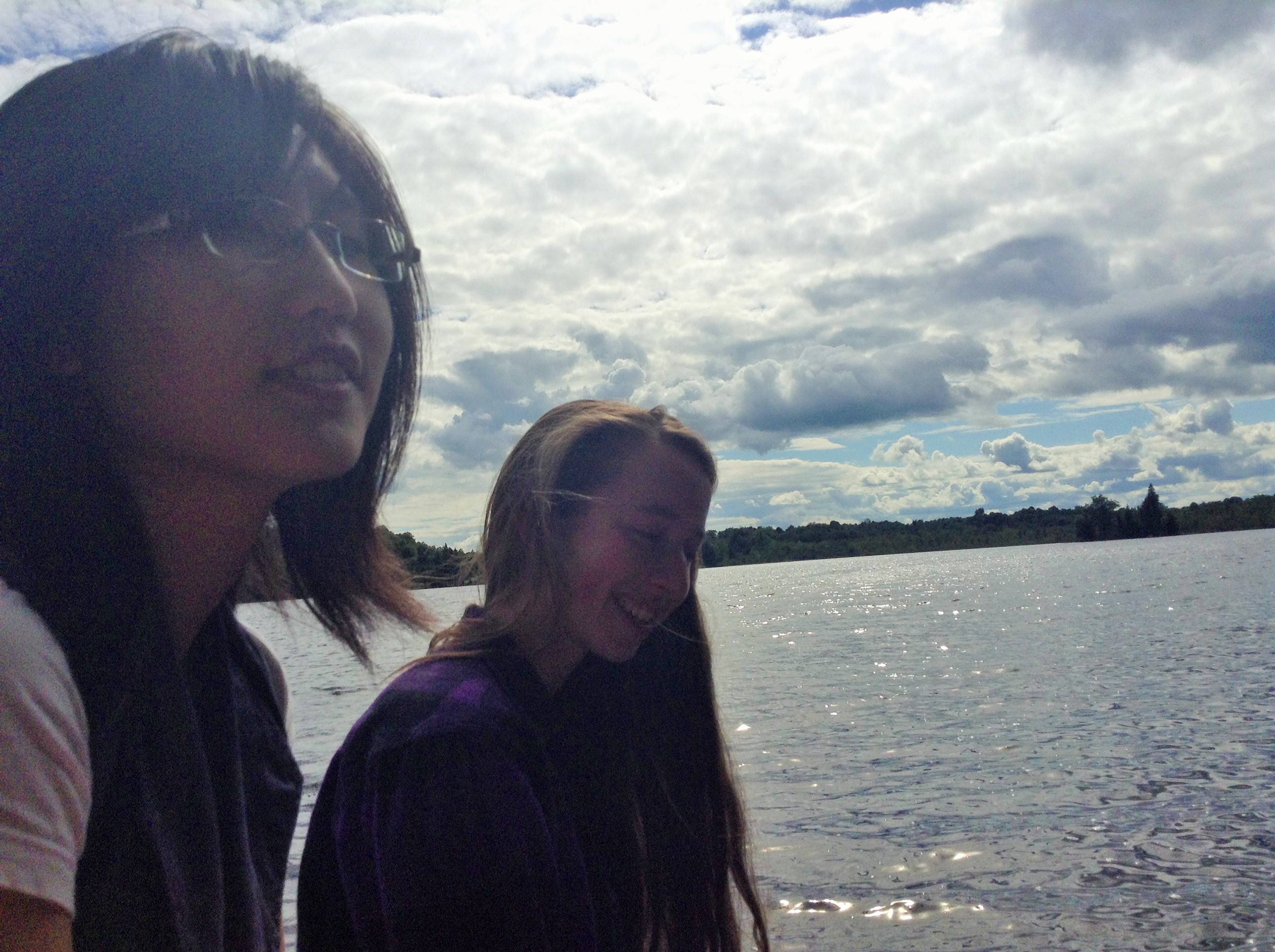 Jiayin and Claire under a particularly big sky.