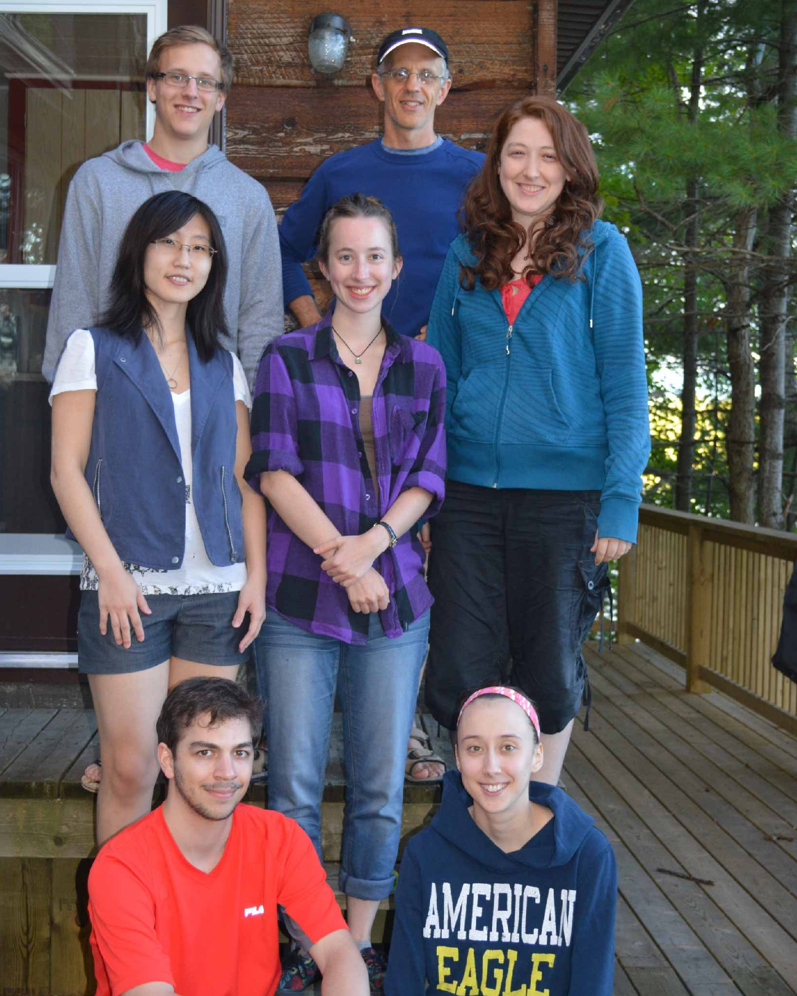 "Lab members, 2015! Apparently no one told Dan about the ""50 shades of blue"" dress code."